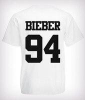 2016 mode Justin Bieber T-shirt band jungen t-shirt rock Hip hop kurzarm Name und alter T-shirt asap rocky Benutzerdefinierte T-shirt
