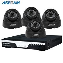 цена на Super 8ch HD 4MP CCTV Surveillance Kit DVR H.264 Video Recorder AHD indoor Black Dome Security Camera System Motion detection