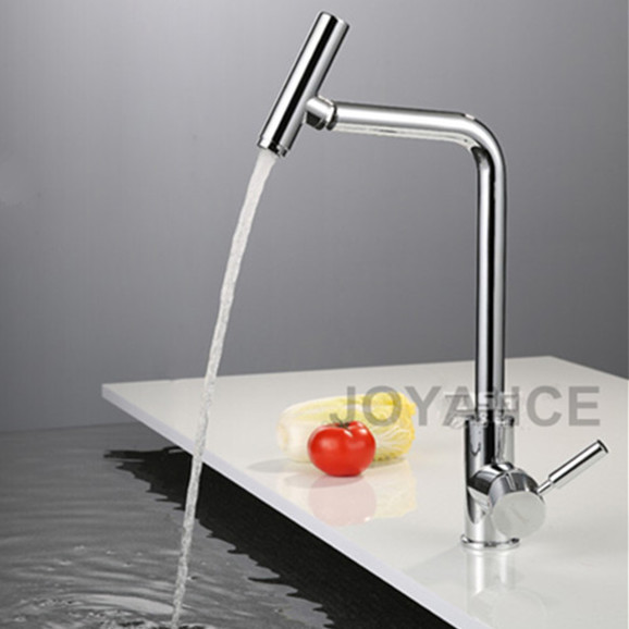 360 degrees rotatable modern kitchen faucet solid brass single handle wash basin sink mixer faucets with - Modern Kitchen Faucets