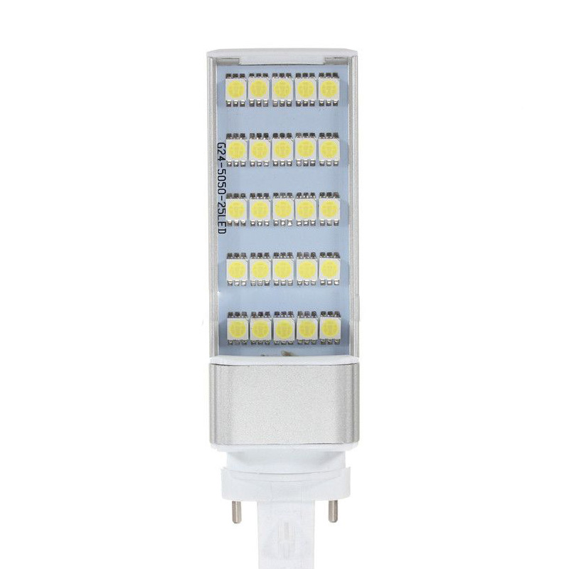 ФОТО 10pcs G23 5W 5050 SMD Led Horizontal Plug Lamp Corn Home Ceiling White Light