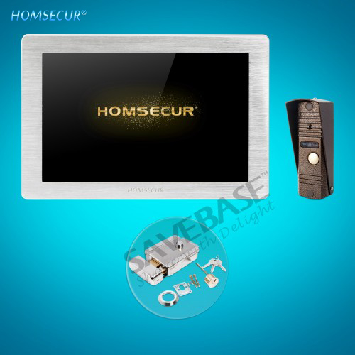 HOMSECUR 4 Wire Video Door Phone Intercom System With 1.3MP Waterproof Camera BC011HD-C+BM714HD-S