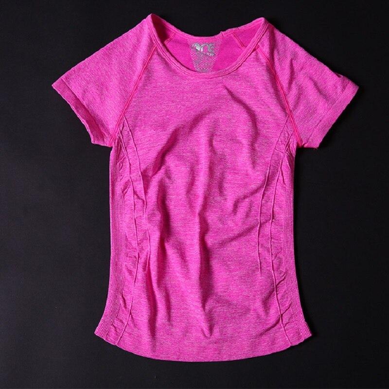 Women Short yoga shirt T-shirt for Fitness Running Sports quick drying women fitness clothing women sport shirt yoga clothing