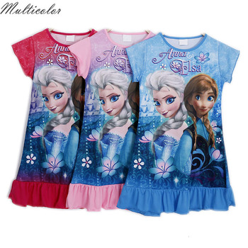 4192f6b0 Elsa Girl dress niños Camisones sleepshirts pijamas princesa Snow White camisón  para Niñas ropa de verano pijamas niños
