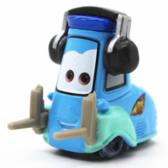 Mini Guido Car Blue Color Forklift With Headset Disney Pixar Cars