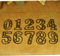 3pcs/lot House Decor Cast Iron Heavy Duty Metal House Numbers Home Street Address Numbers Signs Antique Brown Finish