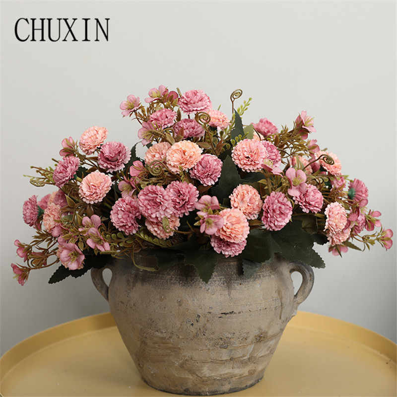 Admirable Diy Artificial Silk 11 Flower Heads Carnation Bouquet Home Bedroom Decoration Fake Flower Wedding Scene Layout Photography Props Home Remodeling Inspirations Cosmcuboardxyz