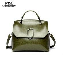 Modemarke Frauen Taschen Aus Echtem Leder frauen Umhängetaschen Paperclip Design Damen Handtaschen Lässige Totes T60