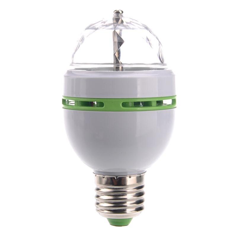 B22 3W AC85-260V Rotating Colorful Auto Rotating RGB LED Bulb Stage Light Party Lamp Disco E27 LED Spot Light Bulb Set