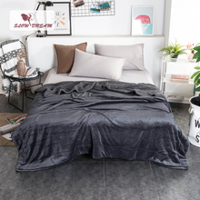 Slowdream Thick Sherpa Throw Dark Gray Blanket Weighted Flannel Fleece Queen King Adult All Season For Bed Or Couch 1PCS