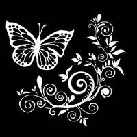 Butterfly Flower Car-Styling Vehicle Body Window Reflective Decals Sticker Decor 3