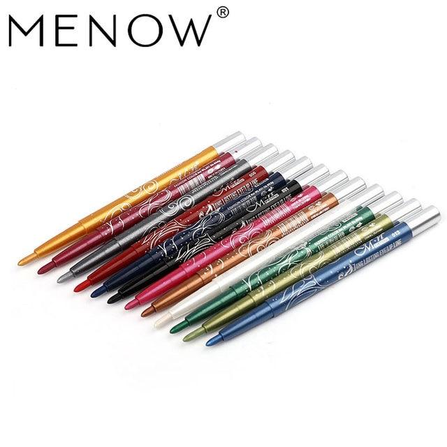 Menow Maquillage ensemble 12 Couleur/kit Étanche ombre à paupières Crayon Rotation Eyeliner Longue durée Eyeliner Cosmétiques maquiagem P10001 2