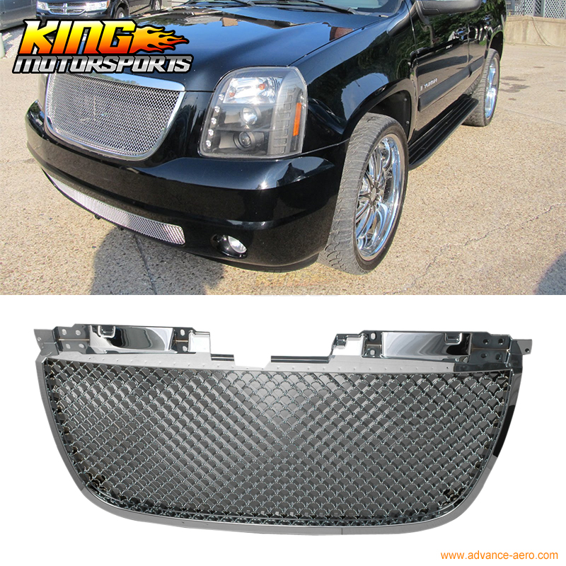 For 2007-2013 GMC Yukon Denali B Mesh Style Chrome Front Grille Grill USA Domestic Free Shipping Hot Selling for 07 09 toyota tundra chrome mesh grill grille brand new 2007 2008 2009 usa domestic free shipping hot selling