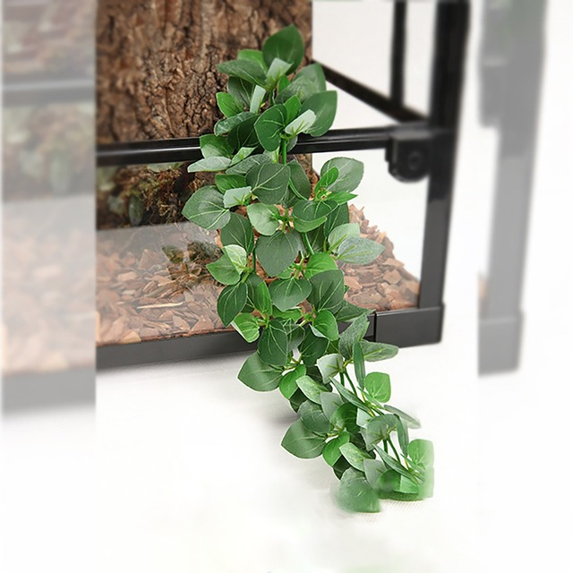 Artificial Hanging Plant Ivy Vine With Suction Cup For Gecko Lizard