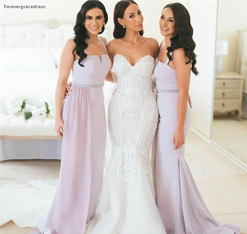 Boho Beach   Bridesmaid     Dresses   2019 Spaghetti Straps Long Summer Country Garden Formal Wedding Party Guest Maid of Honor Gowns