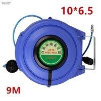 9M Automatic Retractable Reel Telescopic Drum Hose PU10*6.5 OD 10MM ID 6.5MM Automotive Air Hose Reel Pneumatic Hose PU Tube