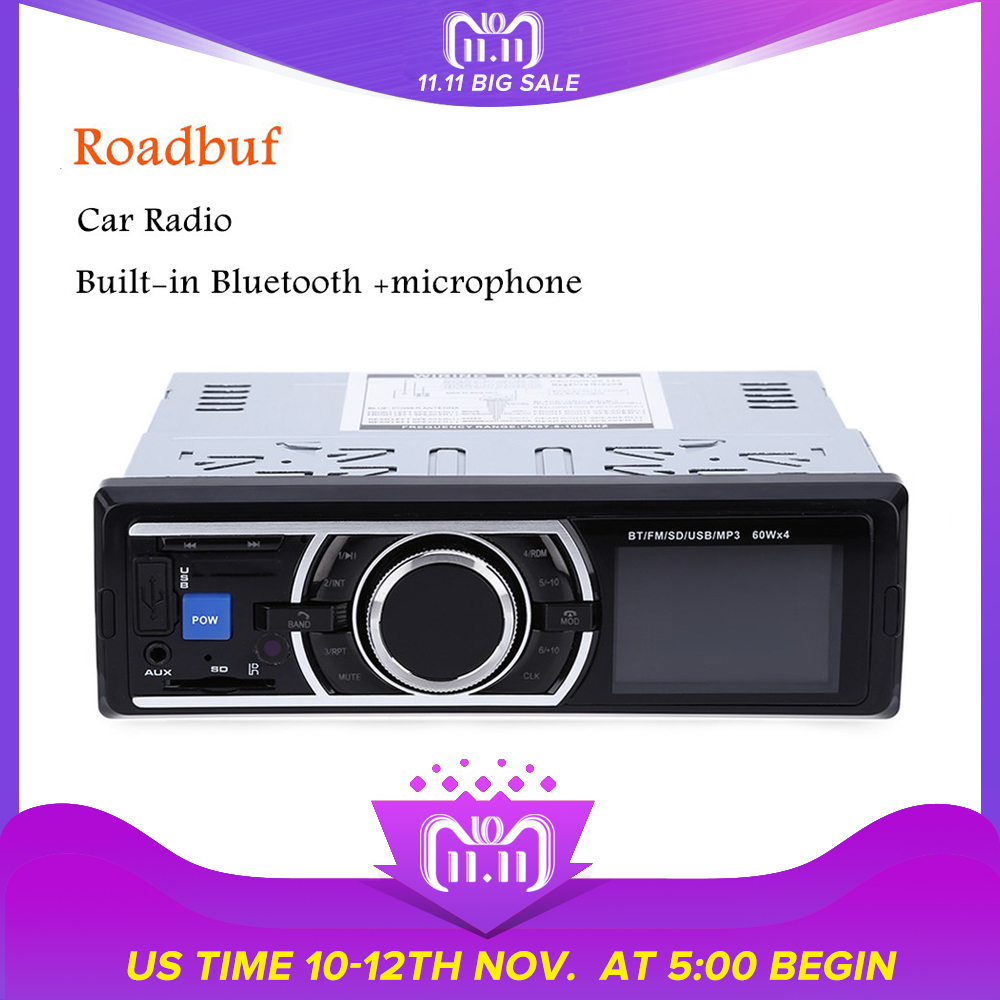 цена на 1din Car Radio Coche MP3 Stereo Bluetooth Player Autoradio With Remote Control AUX-IN Audio Player USB SD Port Car Electronics