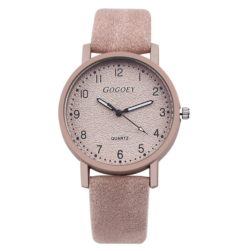 42d2256f82e Mulheres Relógios De Couro Gogoey Personalidade Romântica Relógio de Pulso  Ladies Watch zegarek damski Relógio Para Mulheres reloj mujer Relógio saat