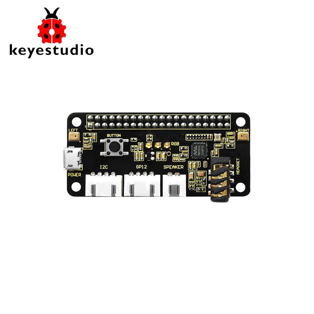 Keyestudio 5V ReSpeaker 2-Mic Pi HAT V1.0 Expansion Board For Raspberry Pi 4B/ Zero / Zero W/B+/3b+/3b