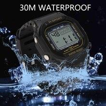 цена на Square Sports LED Watch Digital Display Date Casual Unisex Males Quartz Watch Electronics Men Clock Wristwatch Relogio Masculino