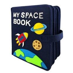 Hecho a mano Montessori mi espacio libro bebé primera educación silenciosa fieltro libro 21X25CM mamá DIY Foto Libro fieltro DIY paquete