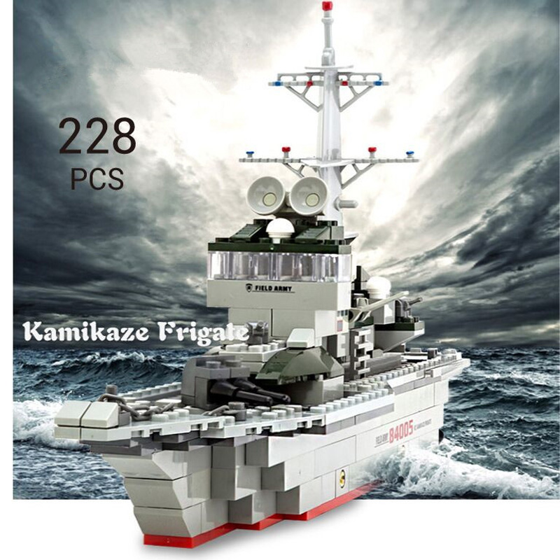 84005 228pcs Military Ship Kazi Warship Building Bricks Blocks Sets Christmas Gift Toy Compatible With City Destroyer kazi building blocks toy pirate ship the black pearl construction sets educational bricks toys for children compatible blocks