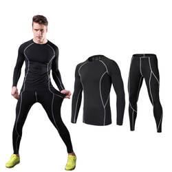 Для мужчин классические узкие Стрейч Йога Костюмы новая весенняя однотонная Пижама Пижамный костюм из 2 предметов повседневная мужская
