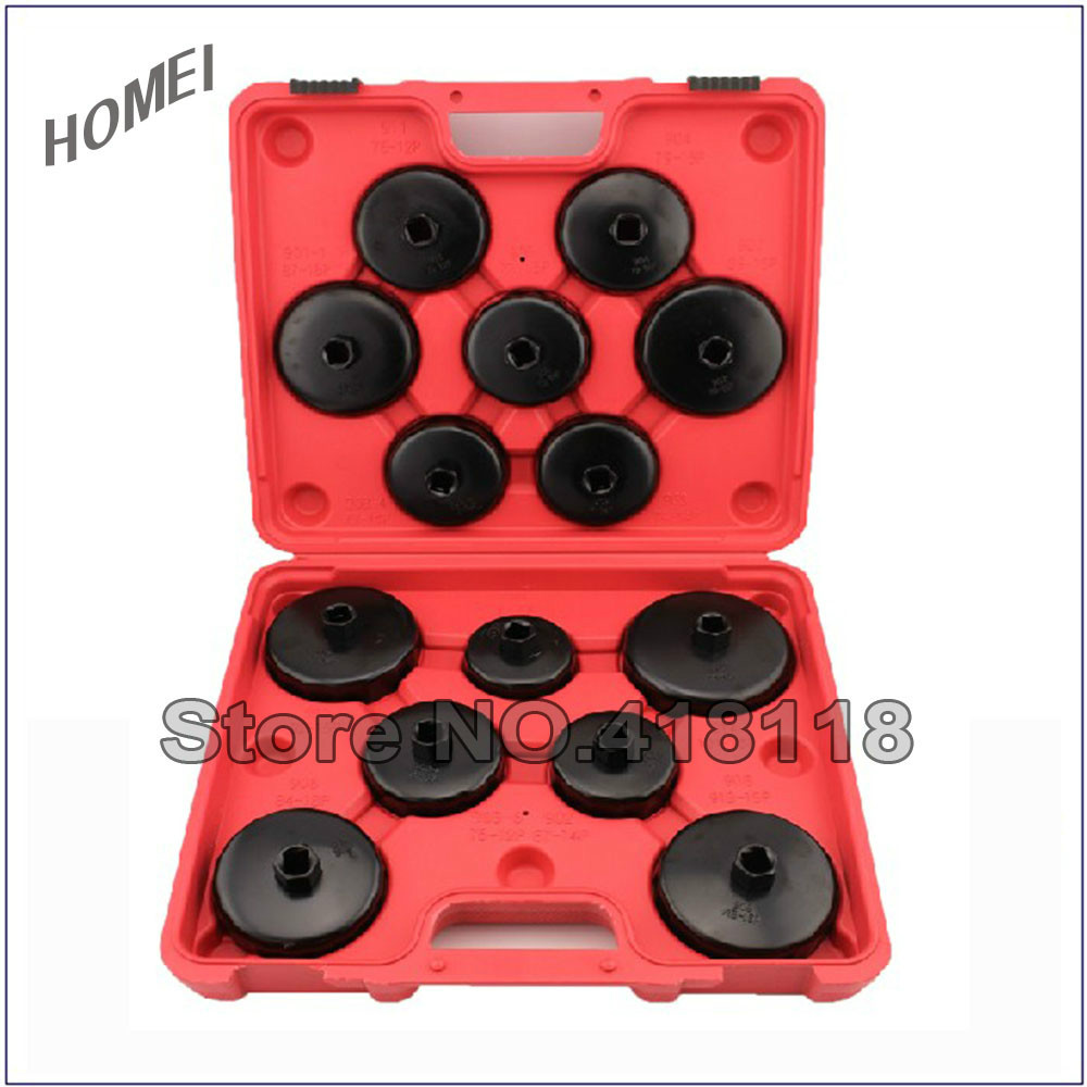 цена на Professional Car Tool Set 14pcs Cup Type Oil Filter Wrench Oil Filter Removal Set