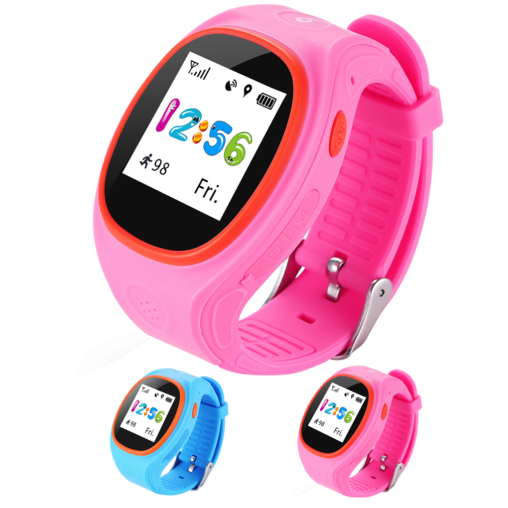 S866A Kids Watch GPS Tracking SIM Card Smart Watch with SOS LBS Mini Children Security Bracelet Digital for iOS & Android