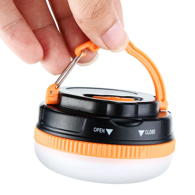 LED Outdoor Camping Tent Lamp With Hook Built-in Magnet Camping Lights Waterproof Lighting Portable 5 Modes Emergency Lights