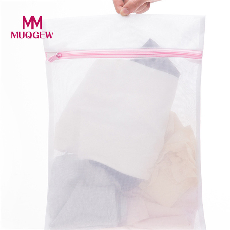 Zippered Foldable Nylon Laundry Bag 3 Pcs Underwear Aid Bra Socks Protection Lingerie Laundry Washing Machine Mesh Bag 2018