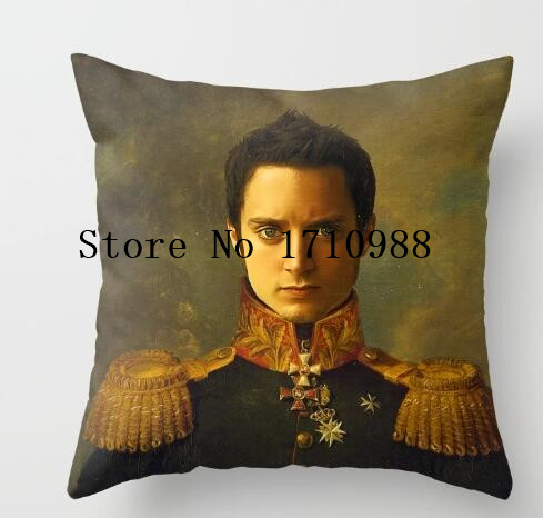 Luxury Elijah Wood replaceface Square Zippered Throw ...