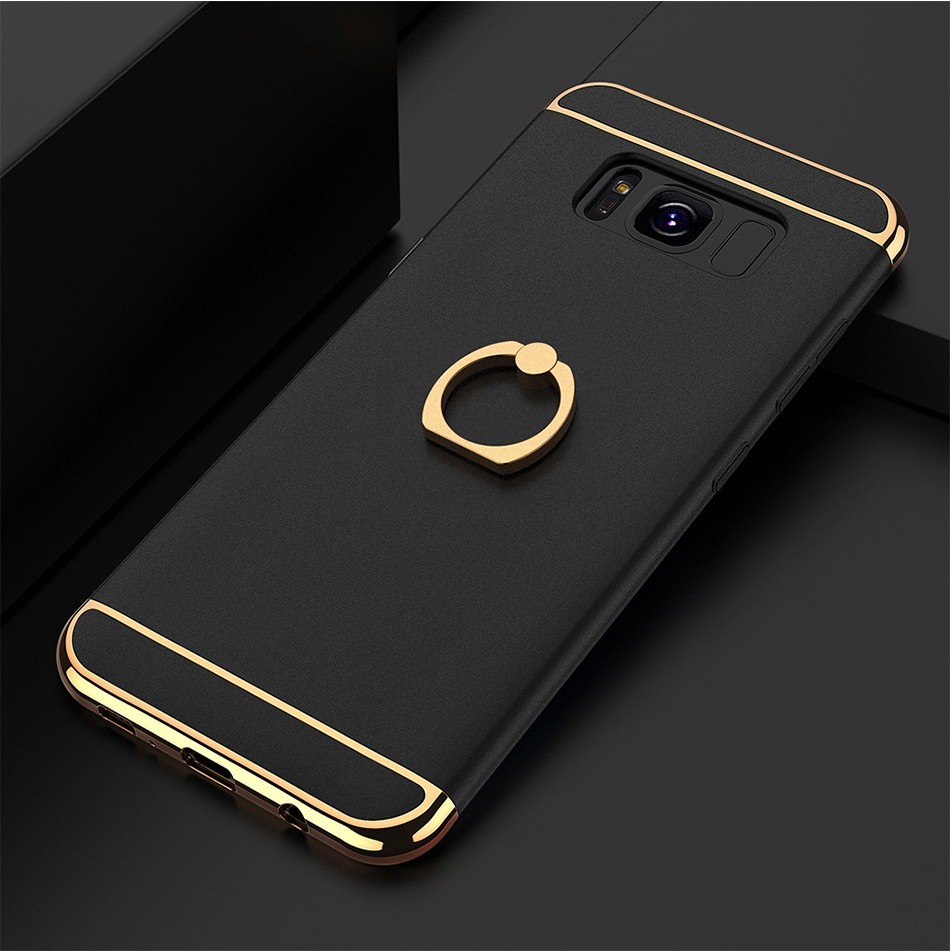 Ring Holder Cover For Samsung Galaxy S8 Plus S8 Case 3 in 1 Combo Armor Stand Phone Bag Cases  (18)