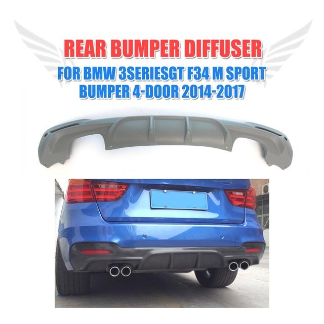 Rear Bumper Lip Diffuser Spoiler for BMW 3 Series GT F34 M Sport Bumper 4-Door 2014-2017 FRP Unpainted Grey Primer
