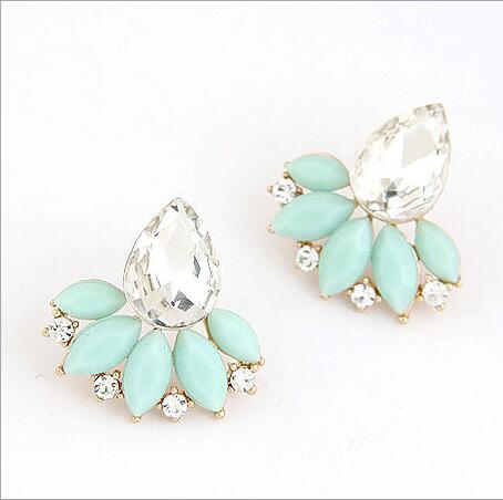 F&U New Fashion Gold Plated Flower Simulated Pearl Trendy Aus