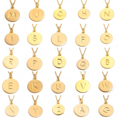 Letter necklace free shipping everyday simple personalized letter necklace free shipping everyday simple personalized delicate jewelry 14k gold fill thin chain monogram pendant necklace in pendant necklaces from mozeypictures Image collections