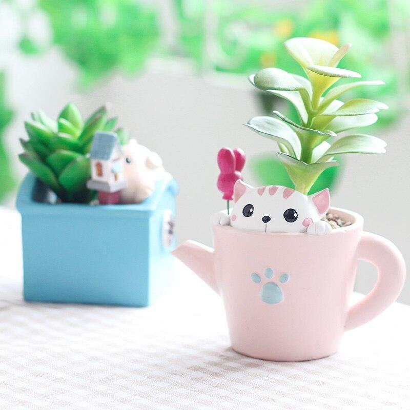 Cartoon animal plant pot