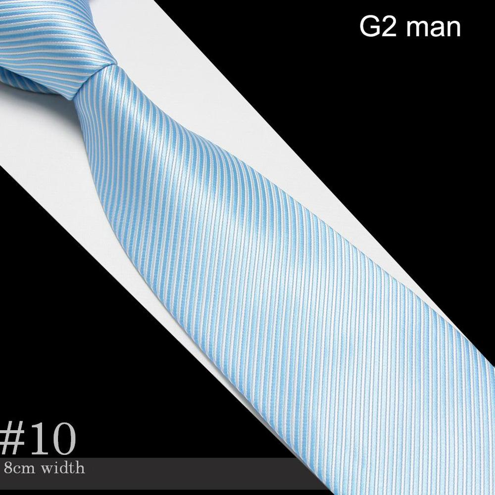 2018 Mens Microfiber Neckties fashion tie blue neck ties striped high quality business adult neck tie #10