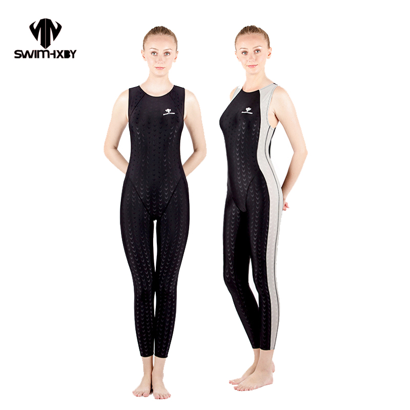 HXBY Racing Swimsuit Women Swimwear One Piece Competition Swimsuits Competitive Swimming Suit For Women Swimwear Sharkskin Arena