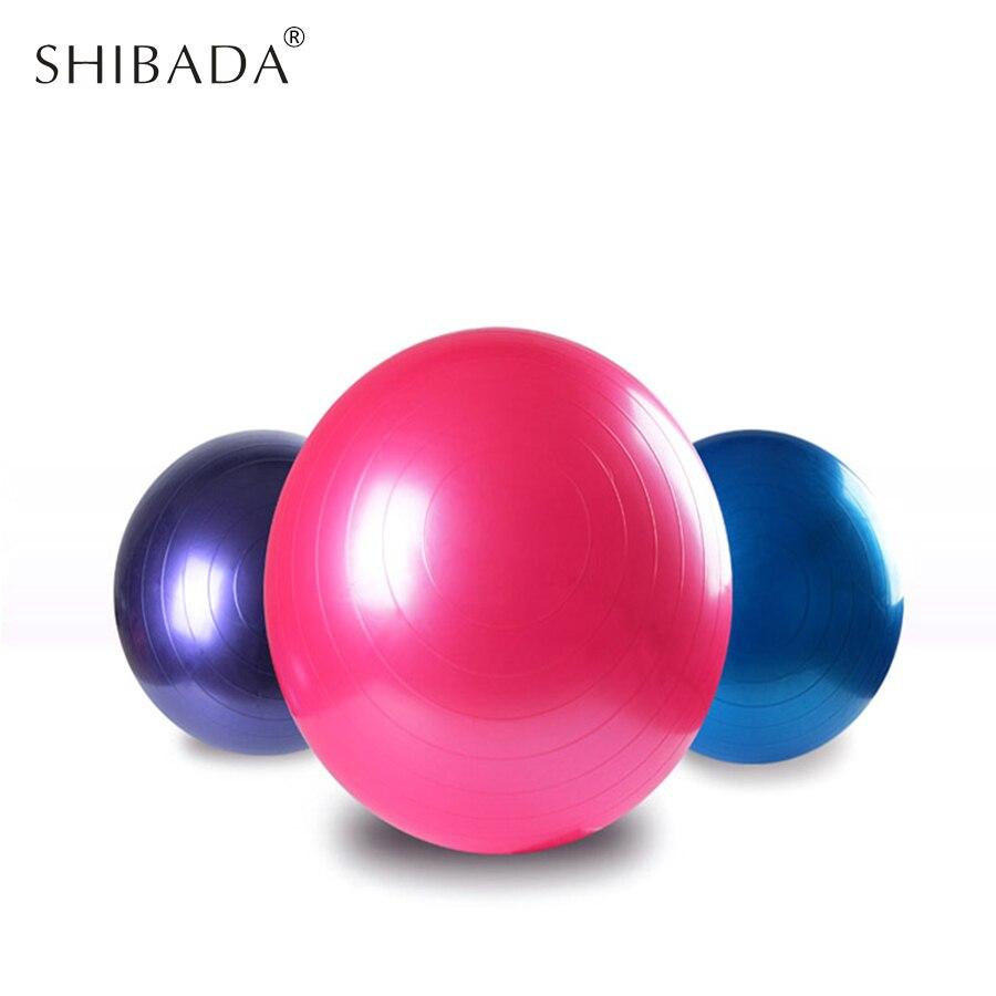 SHIBADA 45cm 55cm 65cm 75cm Sports Yoga Balls Bola Pilates Thick  explosion-proof Fitness Balance Ball Massage Ball 84ae6975ab5cf