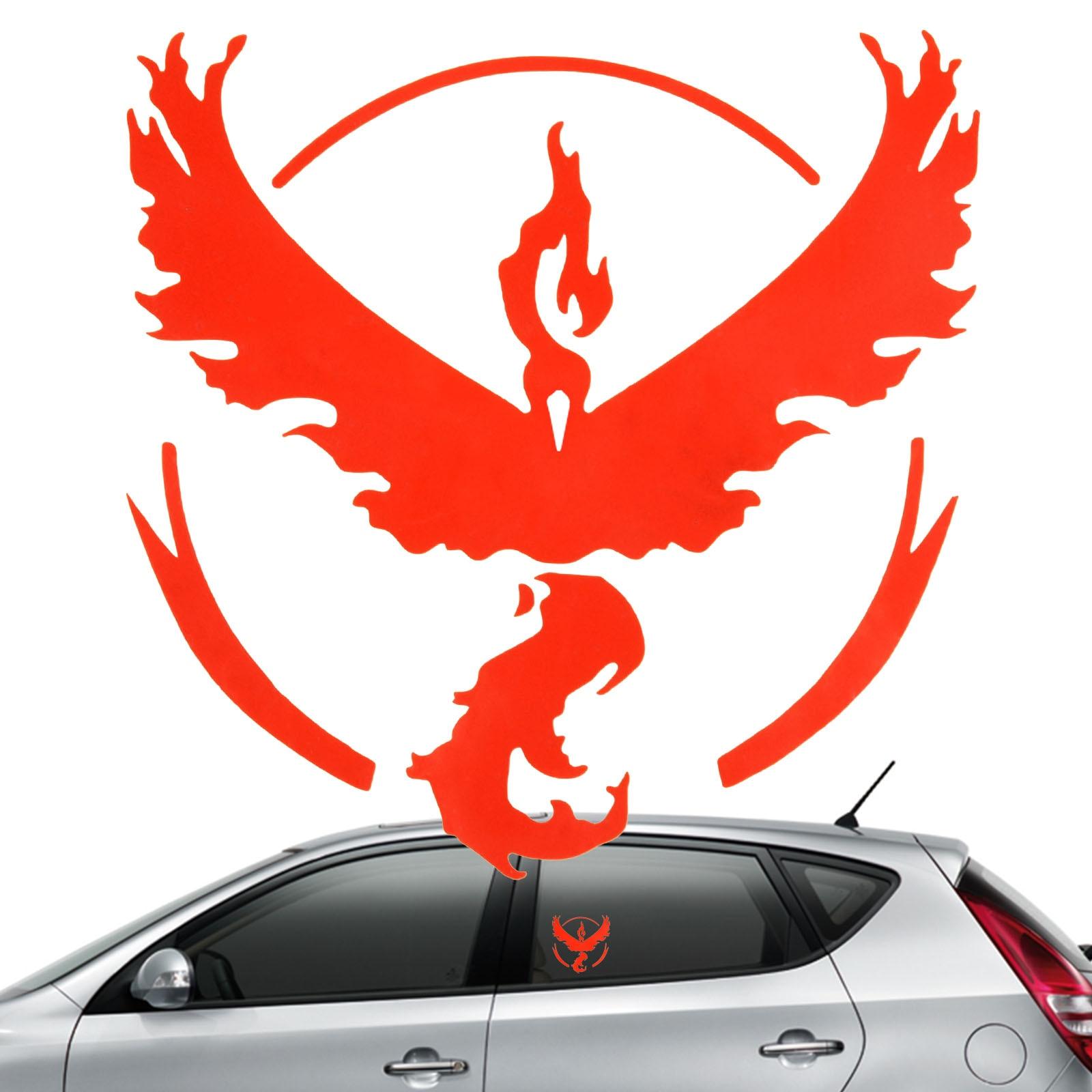 Car sticker design philippines - Pokemon Go Team Valor Pokeball Vinyl Sticker Decal Mystic Instinct Nintendo Wall Stickers Glass Red