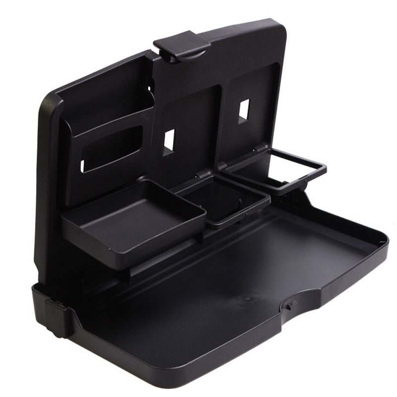 Durable Car Auto Back Seat Folding Table <font><b>Drink</b></font> Food <font><b>Cup</b></font> Tray Holder Stand Desk Multi-purpose Travel Dining Tray ABS+PP Material