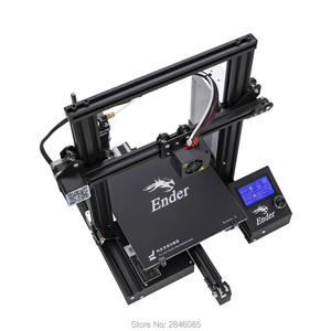 Image 3 - CREALITY 3D Imprimante Ender 3/Ender 3X Trempé Verre En Option, v slot Cv Panne De Courant Impression kit de bricolage Foyer