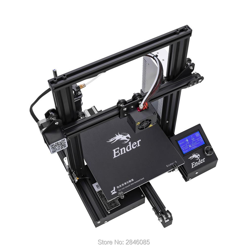 Image 2 - CREALITY 3D Printer Ender 3/Ender 3X Tempered Glass Optional,V slot Resume Power Failure Printing DIY KIT Hotbed-in 3D Printers from Computer & Office