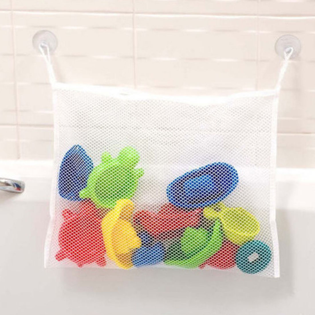 Retail Creative Bathroom Mesh Net Storage Bag Baby Bath Bathtub Toy Mesh Net Storage Bag Organizer Holder For Home