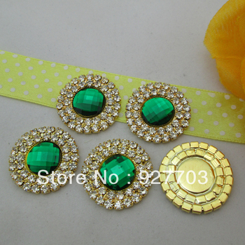 (CM461 25mm)100pcs Dark Green Rhinestone Diamante Crystal Cluster Scrapbooking DIY Craft