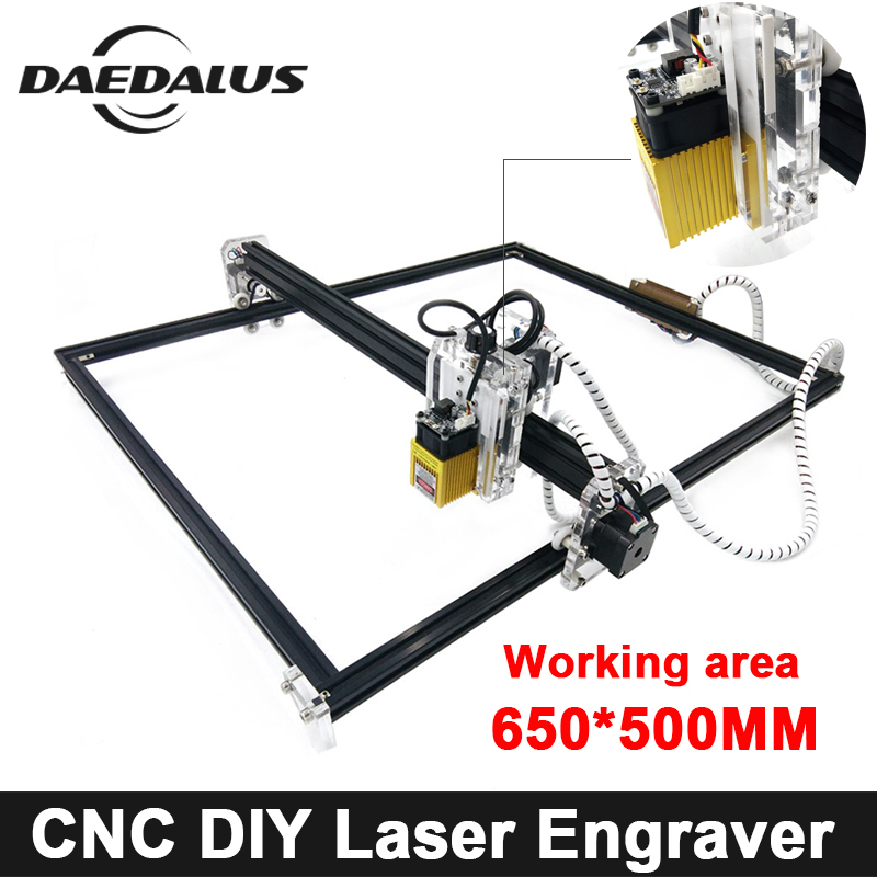 цена на CNC 650*500mm Laser Engraver 500mw/2500mw/5500mw 15000mw Laser Machine DIY MINI Wood Router For Cutting Engraving Milling Tools