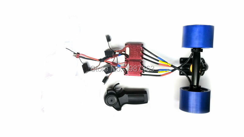 Dual-drive Remote Control Electric Skateboards Hub Motor + ESC + 2.4Ghz Mini Remote Controller