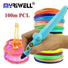 Myriwell 2018 3D Printing Pen 3D Pen 50m or 100m PCL material USB Low Temperature Safe