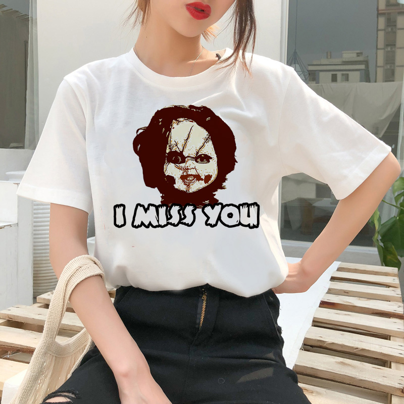 chucky t shirt Horror High cool women top Quality new streetwear tee t-shirt fashion ulzzang female shirts femme new tshirt 3