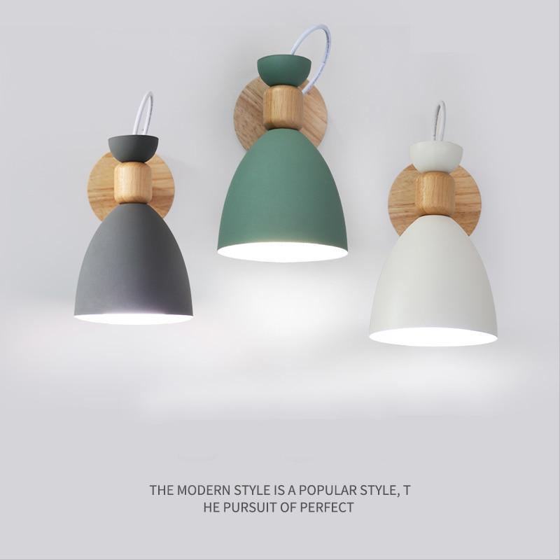 купить Fanlive Nordic wall lamp bedside lamp bedroom modern living room aisle stairs simple iron belt wall lamp LED light по цене 16357.87 рублей
